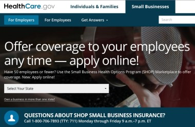 healthcare dot gov shop signup home page
